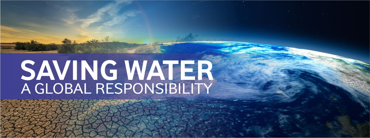 Saving water global responsibility