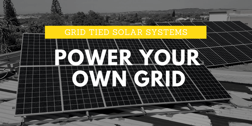 Green Overall grid tied solar power systems