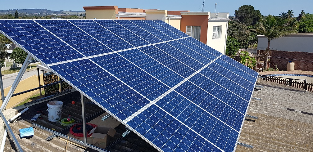 grid tied solar power system panels