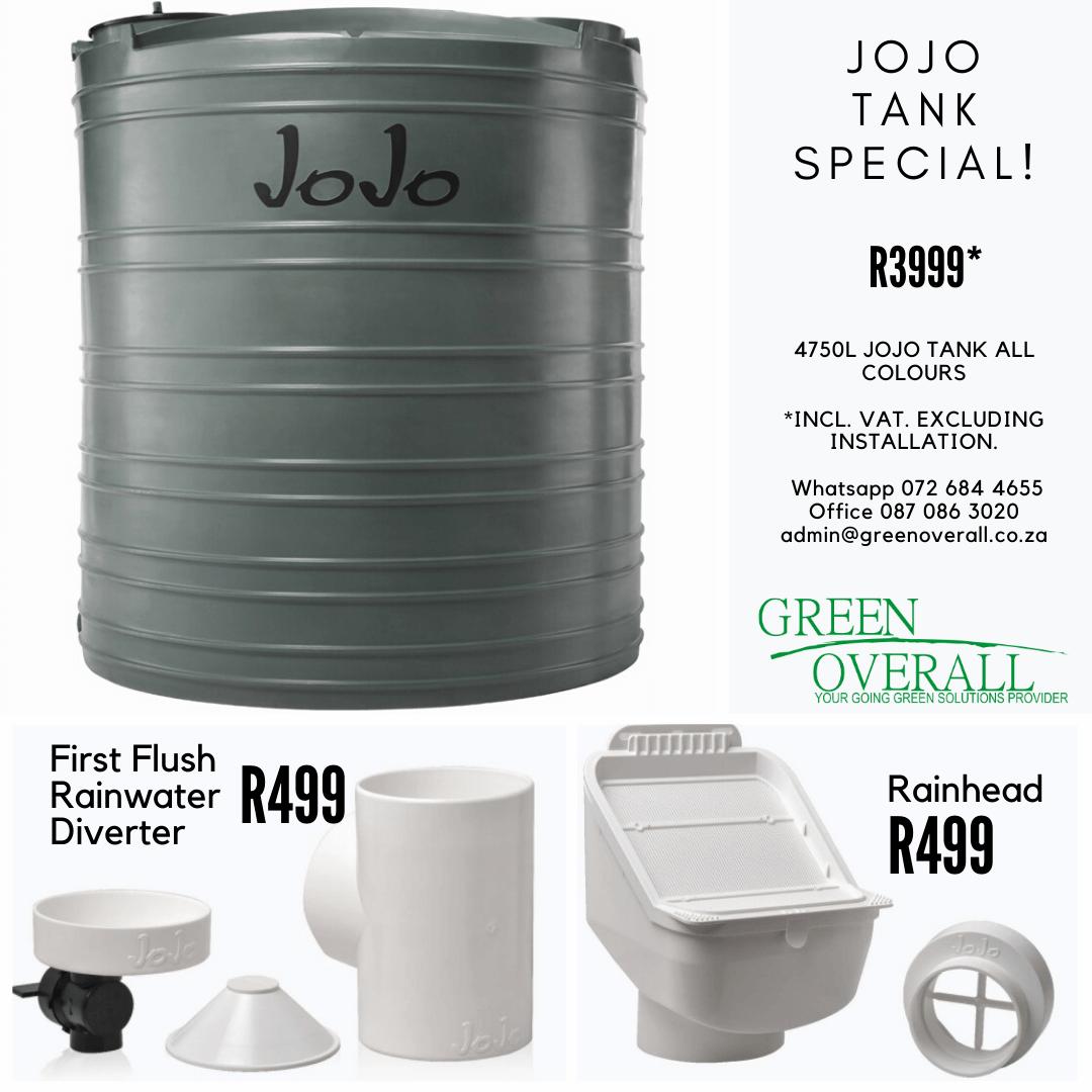 JoJo water tank Special Eastern Cape