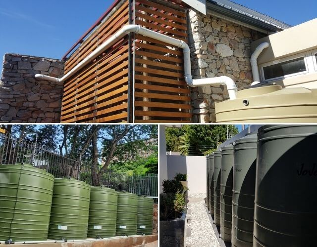 rainwater harvesting system and water tanks